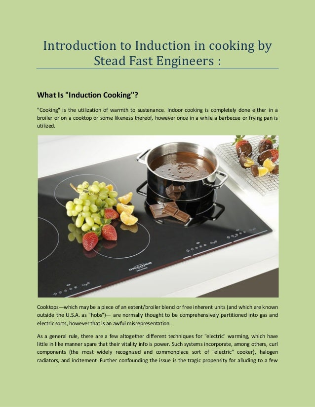 How Fast Is Induction Cooking ~ Introduction to induction in cooking by stead fast engineers