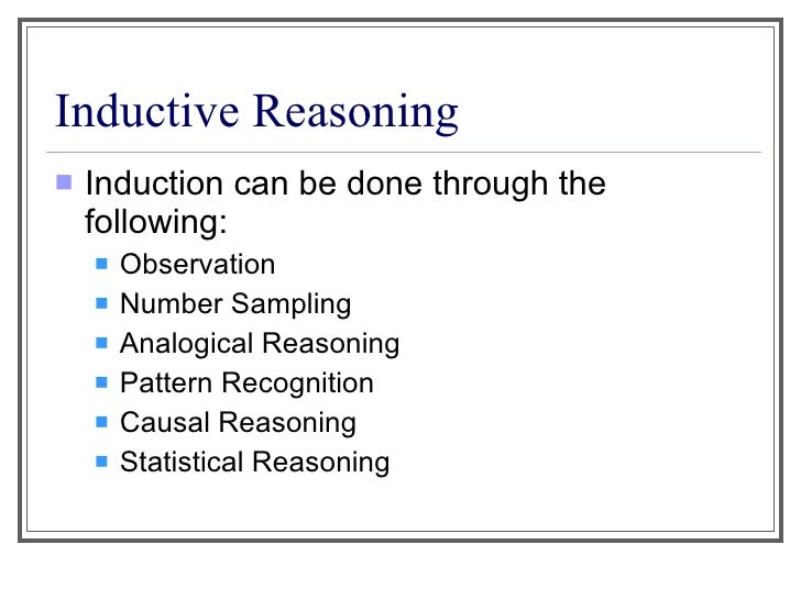Introduction to inductive and deductive reasoning – Inductive Reasoning Worksheet