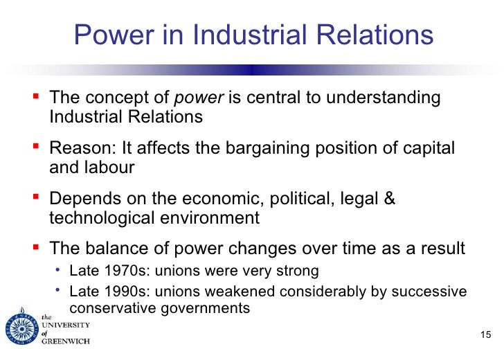 Examples of Industrial Relations