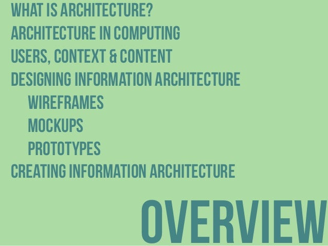 Introduction to Information Architecture Slide 2