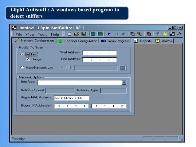 antisniff windows