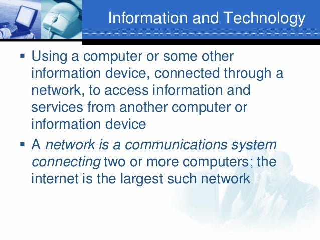 introduction to information technology Mobile devices can be associated with the expansive system to trade information mobile devices are quite often controlled by a rechargeable battery framework it has.