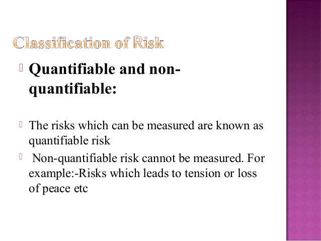 quantifiable value and non quantifiable value