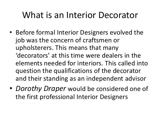 3 What Is An Interior Decorator