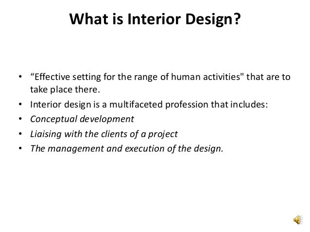 an introduction to the analysis of interior designer Interior design int100 studio i  analysis and problem solution in two- and three-dimensional design students  of goods specified by the interior designer.