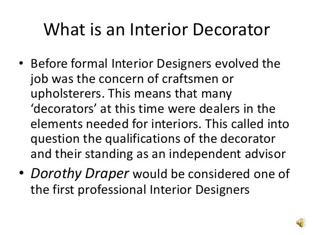 Good What Is An Interior Decorator ...