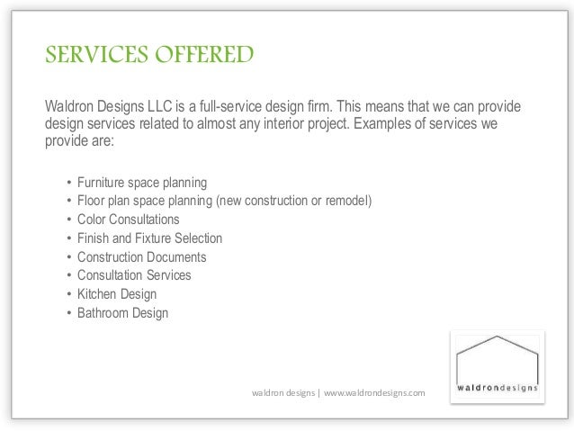 Introduction to interior design services for Service design firms