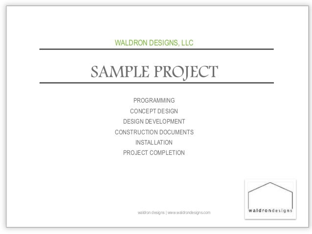 sample project waldron designs