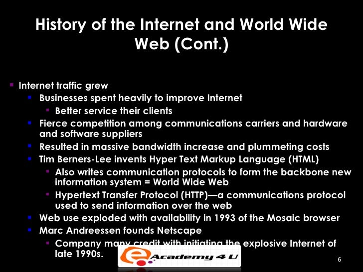 an introduction to the history of the father of internet technology The evolution of communication technology history essay release and commercialization of the internet science and technology in world history an introduction.