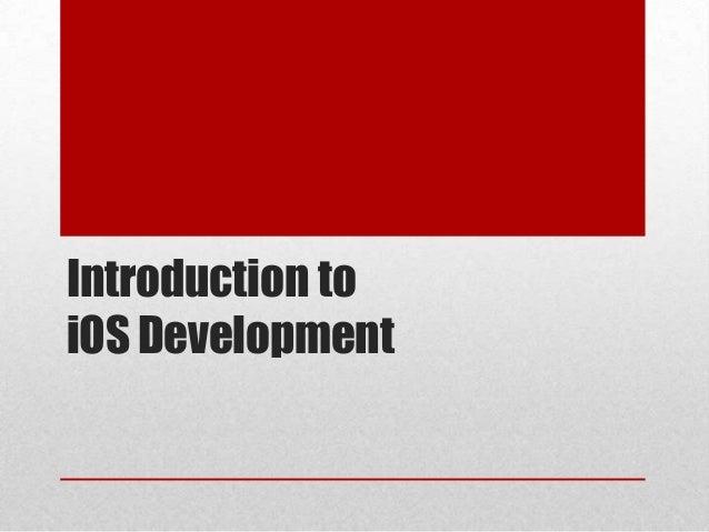Introduction toiOS Development