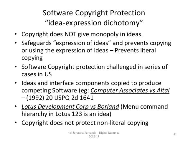 What copyright does not protect