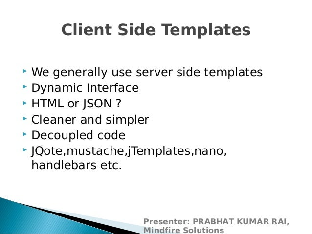 Introduction to javascript templating using handlebars.js
