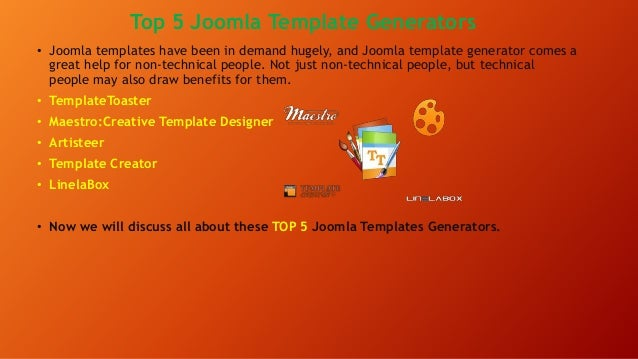 Introduction to joomla top 5 joomla template generator joomla template generators 2 pronofoot35fo Choice Image