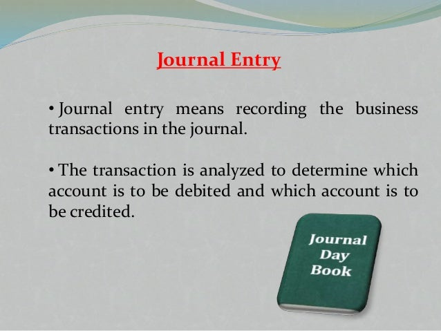 Introduction to journal entry