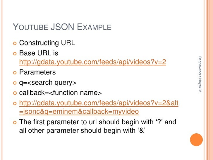 Introduction to JSON and Building Youtube, Twitter and