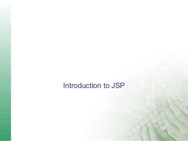 Introduction to JSP