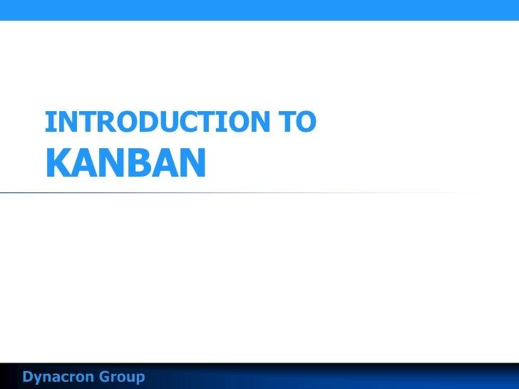 INTRODUCTION TOKANBAN