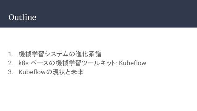 Kubeflowで何ができて何ができないのか #DEvFest18 Slide 2