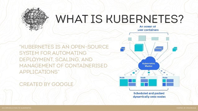 Hosted by steamhausan introduction to kubernetes key concepts of k8s • Kubectl • Namespaces • Services • Deployments • Pods