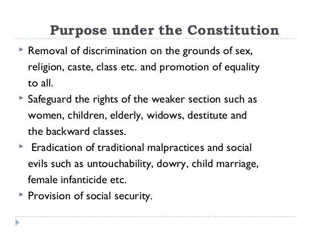 purpose of the sex discrimination act