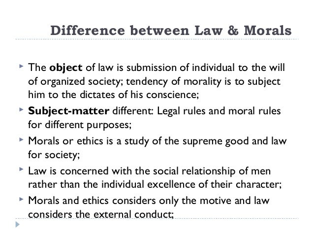 introduction to law morals is an evaluation of interests 33 difference between law