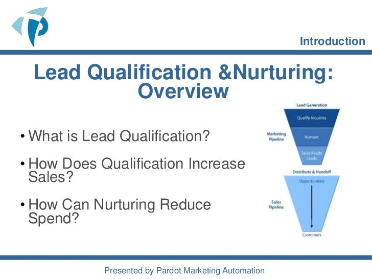 Introduction to Lead Scoring and Nurturing Slide 2
