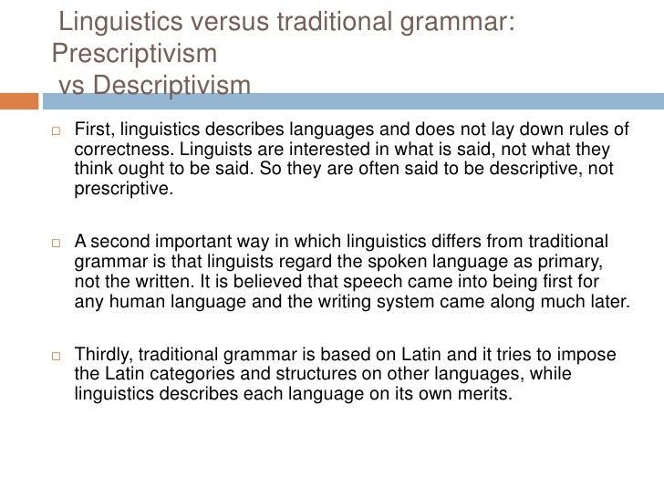 Descriptive versus prescriptive theory