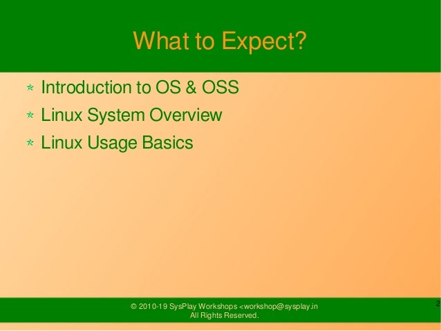 Introduction to Linux Slide 2