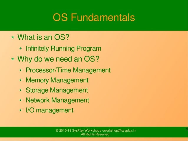 Introduction to Linux Slide 3