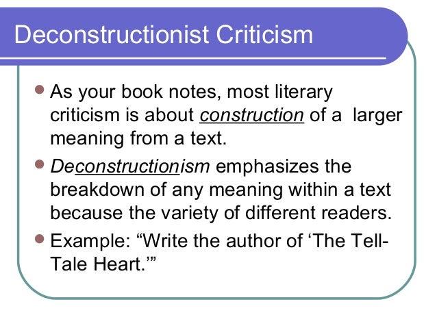 Deconstructionism essay
