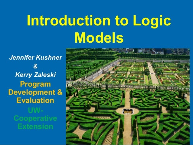 Introduction to Logic Models Jennifer Kushner & Kerry Zaleski Program Development & Evaluation UW- Cooperative Extension