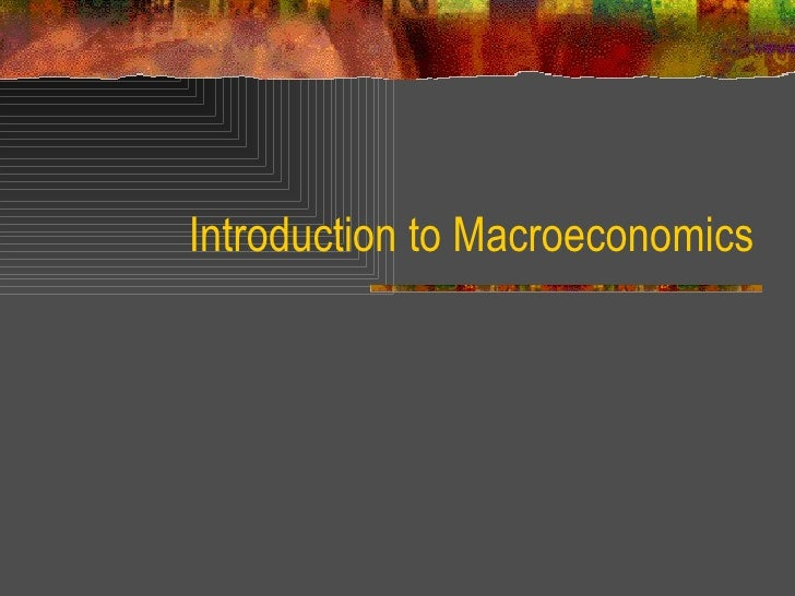 an introduction to the analysis of macroeconomics Preface these notes are written for the course econ 3410 /4410 introductory dynamic macroeconomics at the university of oslo they contain a presentation of the key.