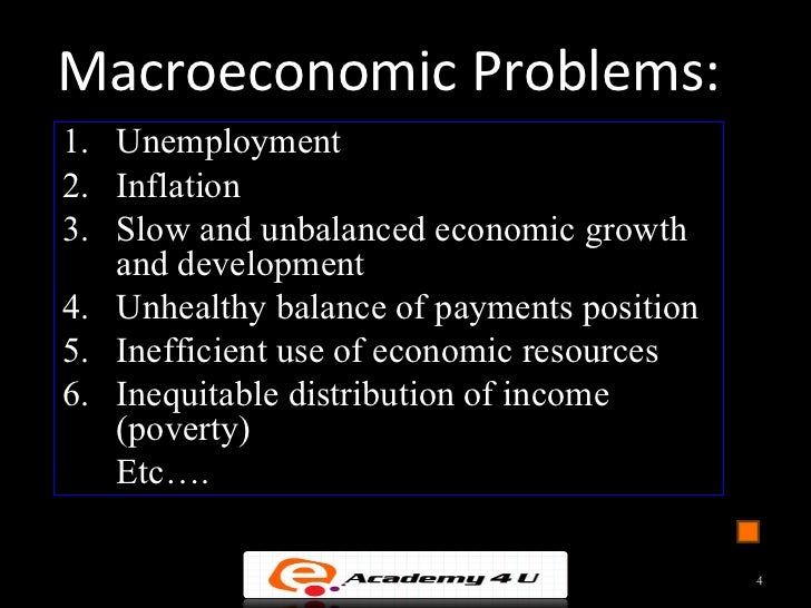 which macro economic objectives is the most The five major economic goals are full employment, economic growth, efficiency, stability and equity, and they are divided into both macroeconomic and microeconomic goals on the macroeconomics spectrum, policies are made to reach economic growth, stability and full employment for microeconomics.