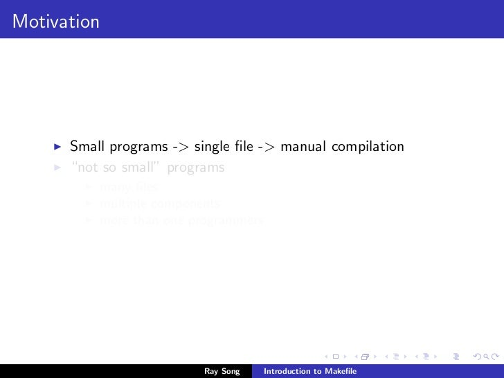 introduction to makefile rh slideshare net Owner's Manual gmake user guide
