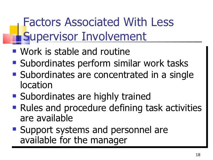 supervisor vs subordinates Superior-subordinate relationship as a unit of analysis  supervisors, positive relationship communication and upward openness communication were.