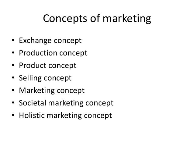 introduction to marketing concepts Introduction to marketing from university of pennsylvania taught by three of wharton's top faculty in the marketing department, consistently ranked as the #1 marketing department in the world, this course covers three core topics in customer .