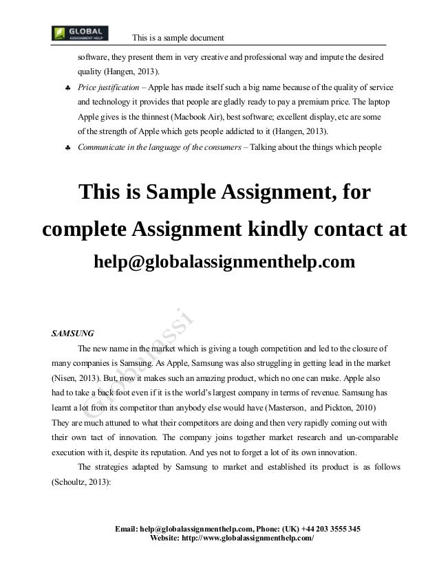 Marketing management assignment mba