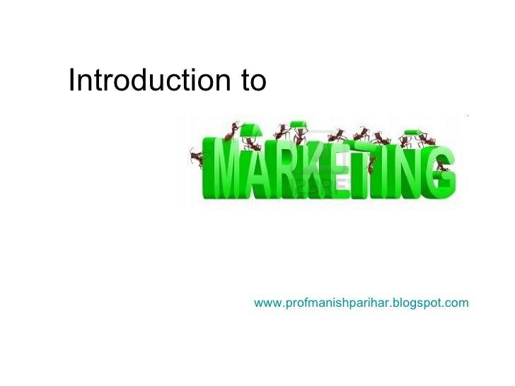 Introduction to www.profmanishparihar.blogspot.com