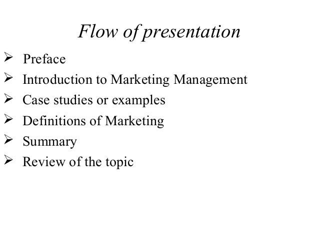 an introduction to marketing management The marketing management with a specialization in marketing program, is  designed mainly for students who intend to seek immediate employment in the  field of.