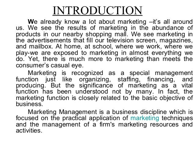 Introduction to marketing management and definition of marketing