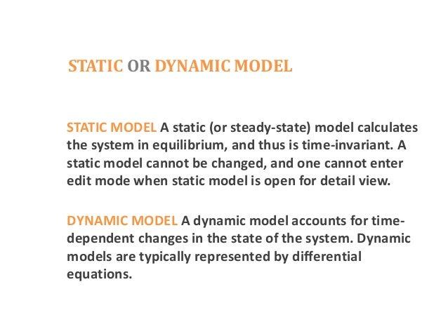 static model