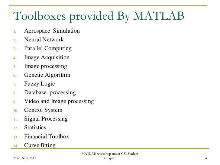 Two Days workshop on MATLAB