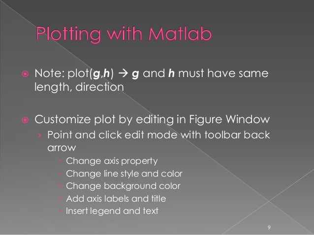 Introduction to matlab lecture 4 of 4