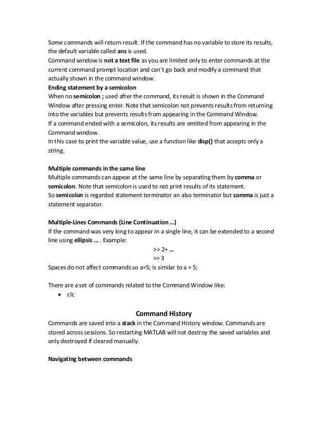Introduction to MATrices LABoratory (MATLAB) as Part of