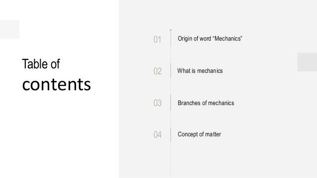 Introduction to mechanics Slide 2