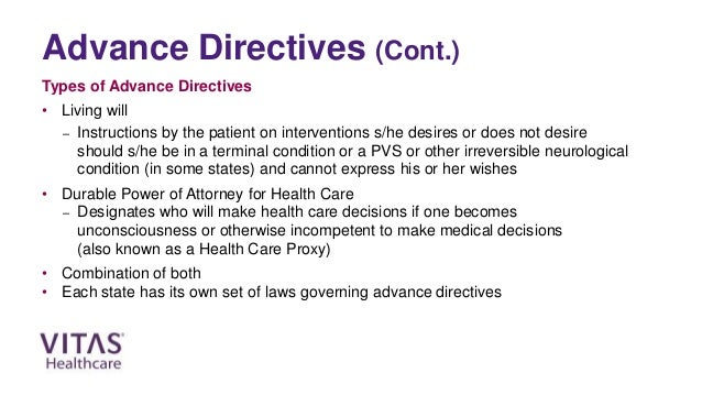 An abstract on morality of advanced directives