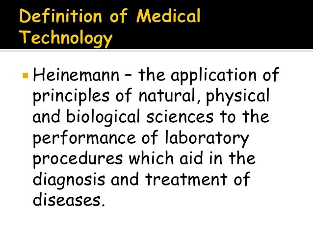 Introduction to medical technology chapter 1