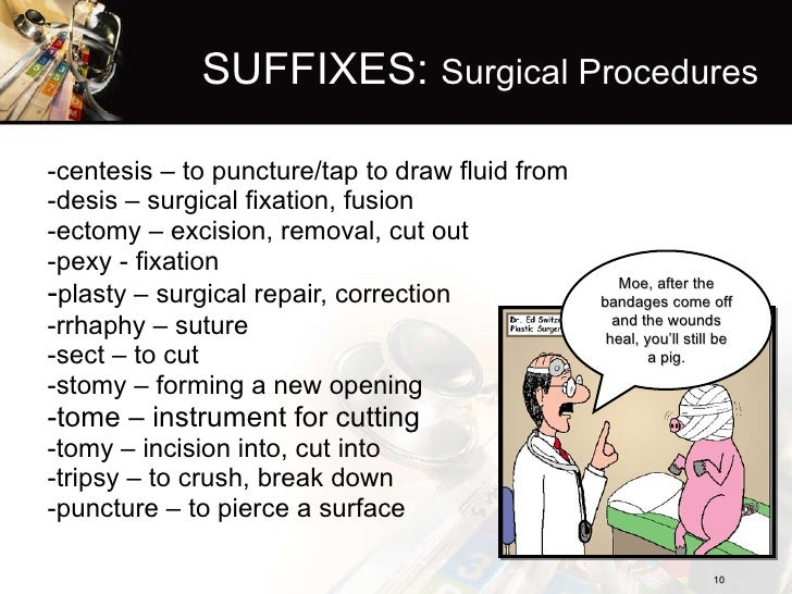 ... 10. SUFFIXES: Surgical Procedures ...