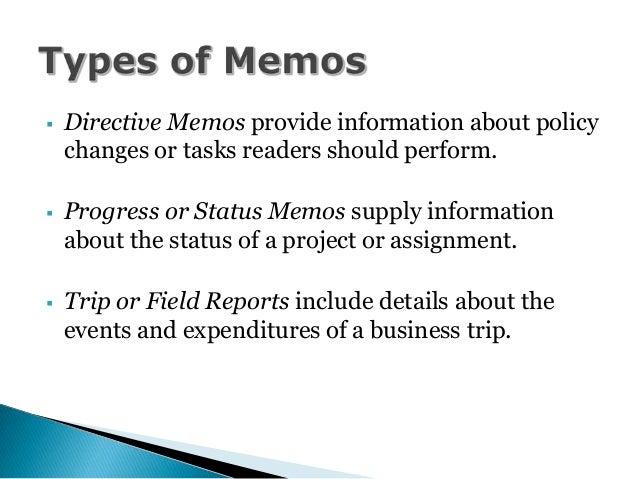 sample of directive memo