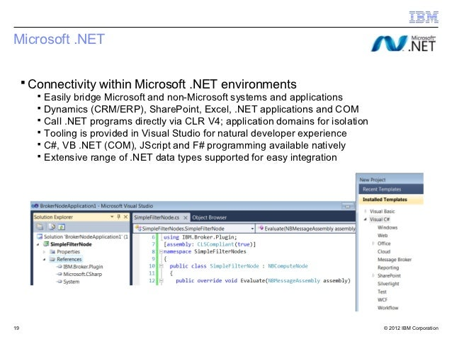 Microsoft .NET ▪ Connectivity within Microsoft .NET environments     ▪ Easily bridge Microsoft and non-Microsoft systems a...